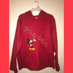 Red Disney Mickey Zip Up Hoodie